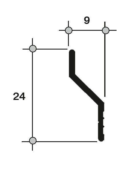 Направляющая раздвижной москитной сетки 640-41X белый