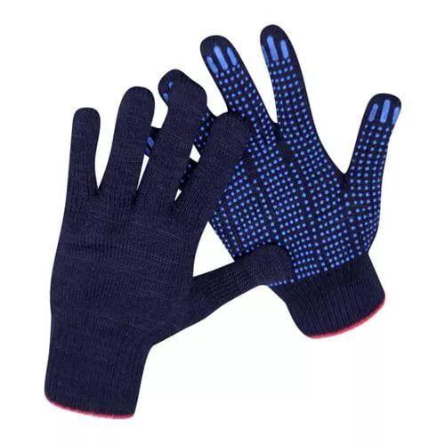 Перчатки трикотажные с точечным пвх покрытием 10 класс/4 нити