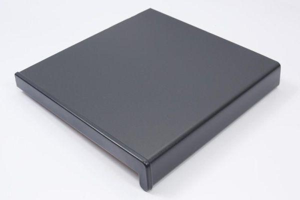 Подоконники пвх «Витраж» цветной матовый серый антрацит