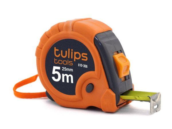 Рулетка с 3 фиксаторами Tulips tools 5 м/25 мм магнит