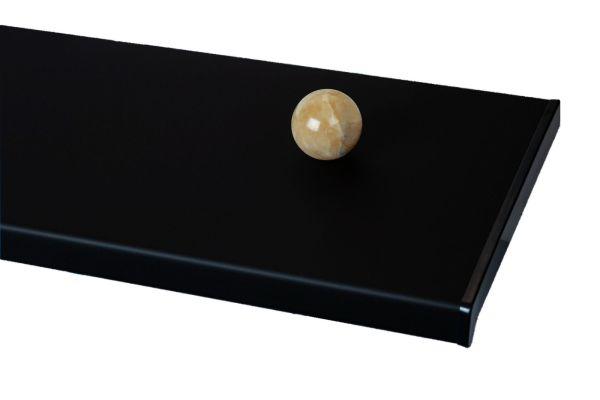 Подоконники пвх «Möller» (Moeller, Меллер) цветной матовый чёрный ультрамат (clean-touch)