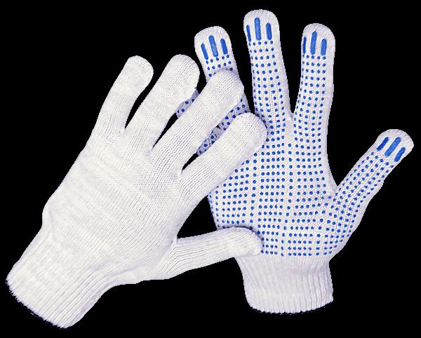 Перчатки трикотажные с точечным пвх покрытием 10 класс/5 нит.