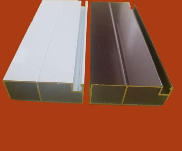 Профиль рамный для сеток дверной коричневый 42 мм