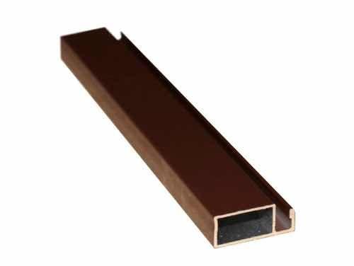 Профиль рамный для москитных сеток дверной коричневый 32 мм