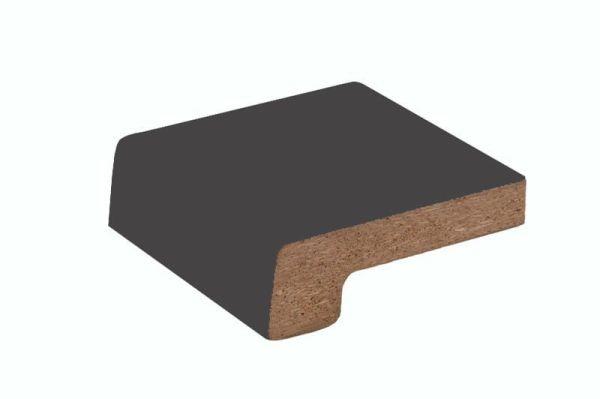 Подоконники ДСП «Werzalit» цветной матовый тёмно-серый