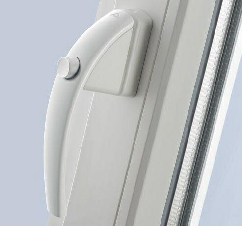 Ручка оконная ROTO SWING с кнопкой белый 37 мм