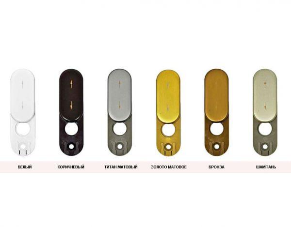 Заглушка-розетка для пластиковых окон Rotoline тём. бронза
