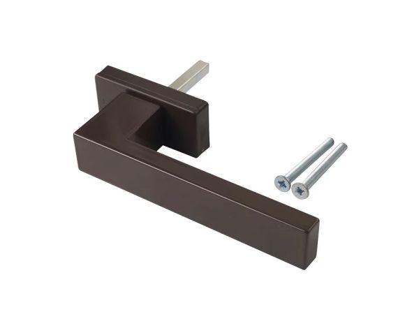 Ручка оконная DUBLIN 45 мм, алюминиевая коричневый матовый