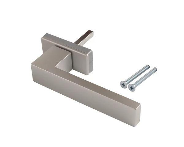 Ручка оконная DUBLIN 45 мм, алюминиевая серебро матовый