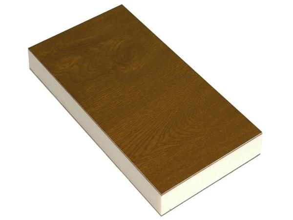 Сэндвич-панель пвх 24х1300х3000 мм, ламининированный золотой дуб односторонний