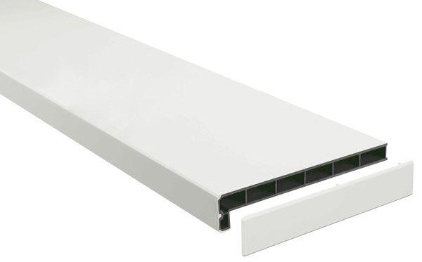 Подоконники пластик «Möller» (Меллер) LD-40 белый матовый элегант