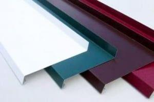Отливы металлические коричневые 250 мм